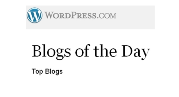 blogs of the day wordpress