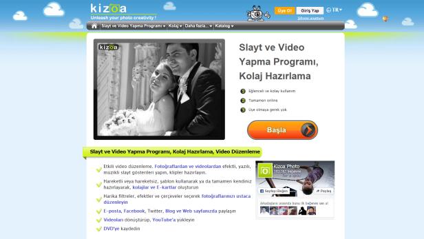 kizoa fotograf ve video duzenleme sitesi