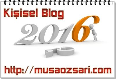 2016 kisisel blog