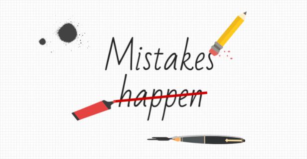hatalar her zaman olur