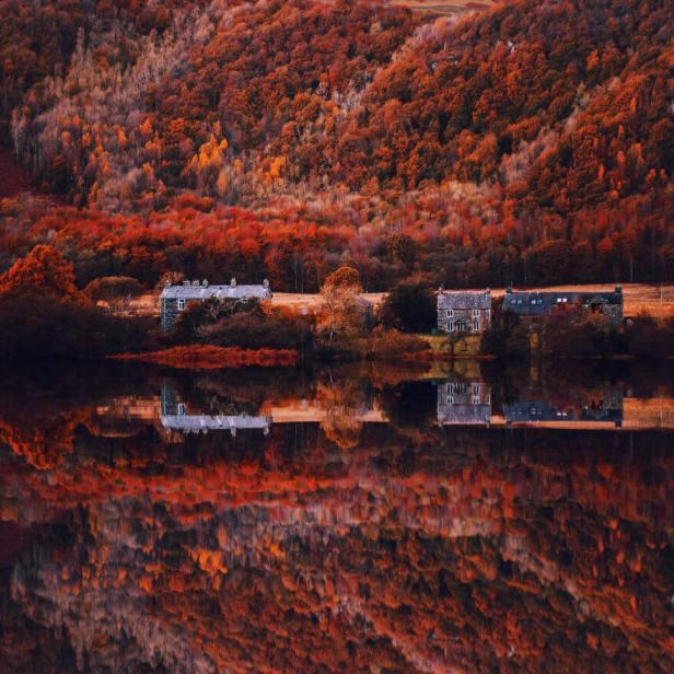 windermere gölünde sonbahar